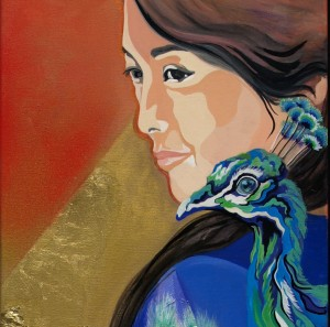 Painting Japanese woman