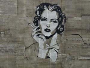 Duitsland klein Modern Art Germany frau woman painting schilderij